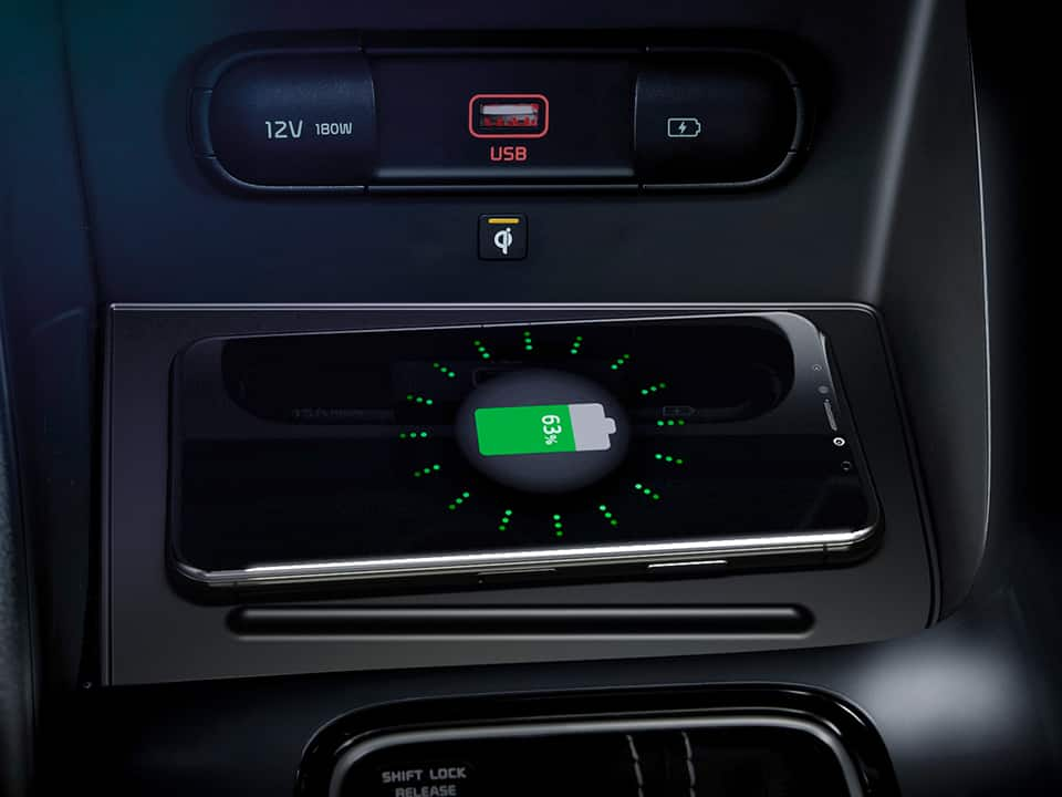 Nuova Kia Niro - wireless phone charger