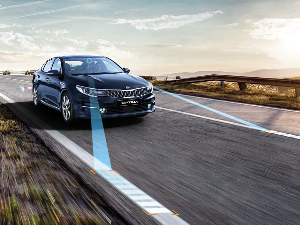 Den helt nye KIA Optima – Lane Keeping Assist System