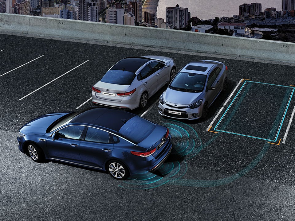 Kia Optima Plug-in Hybrid parkeringsassistent