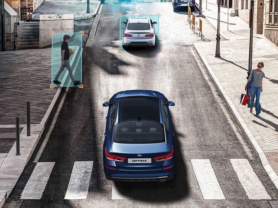 Kia Optima Sportswagon Plug-in Hybrid autonomous emergency braking