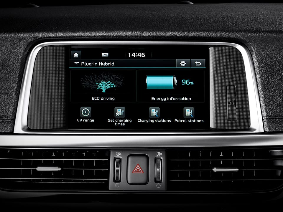 Kia Optima Sportswagon Plug-in Hybrid Touchdisplay