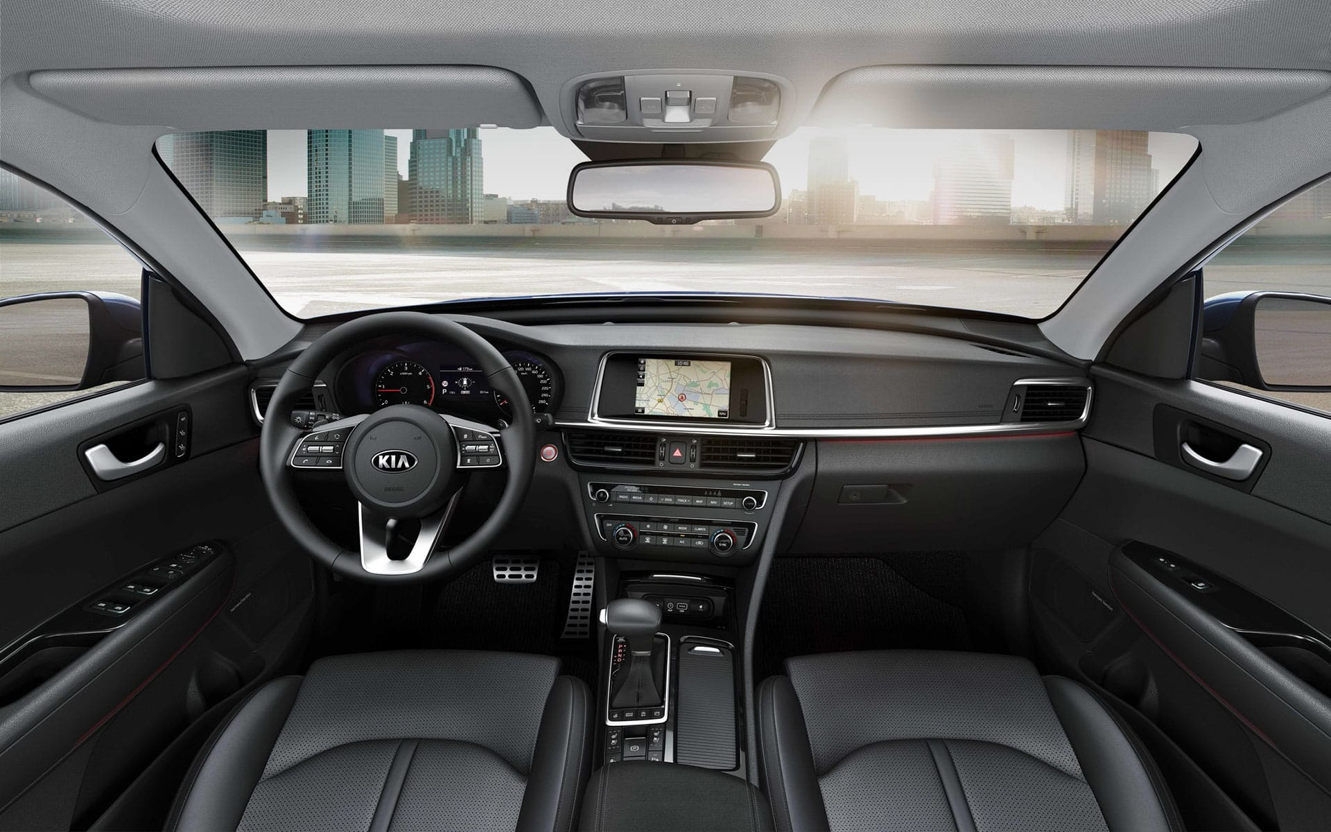Kia Optima Sportswagon interior