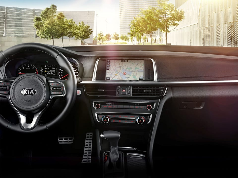 Kia Optima Sportswagon refined interior