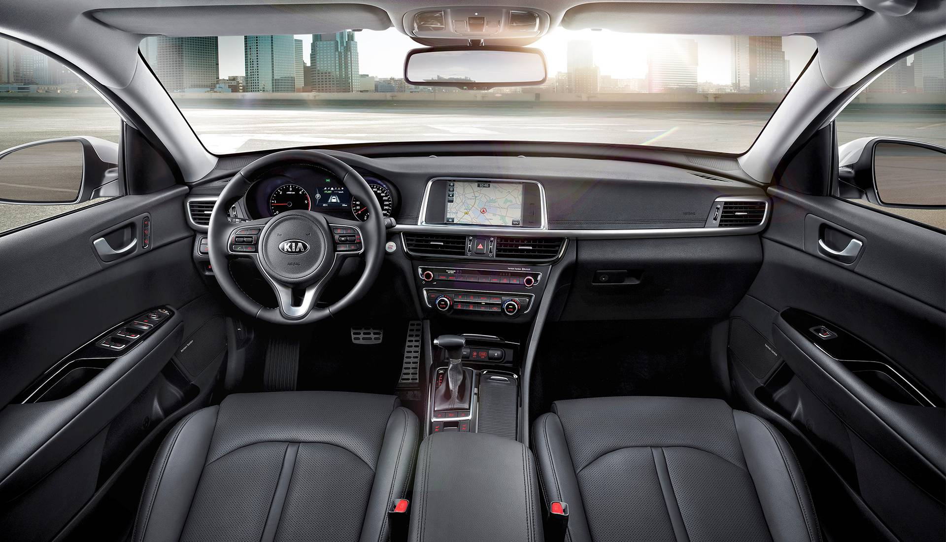 Das Cockpit des Kia Optima SW