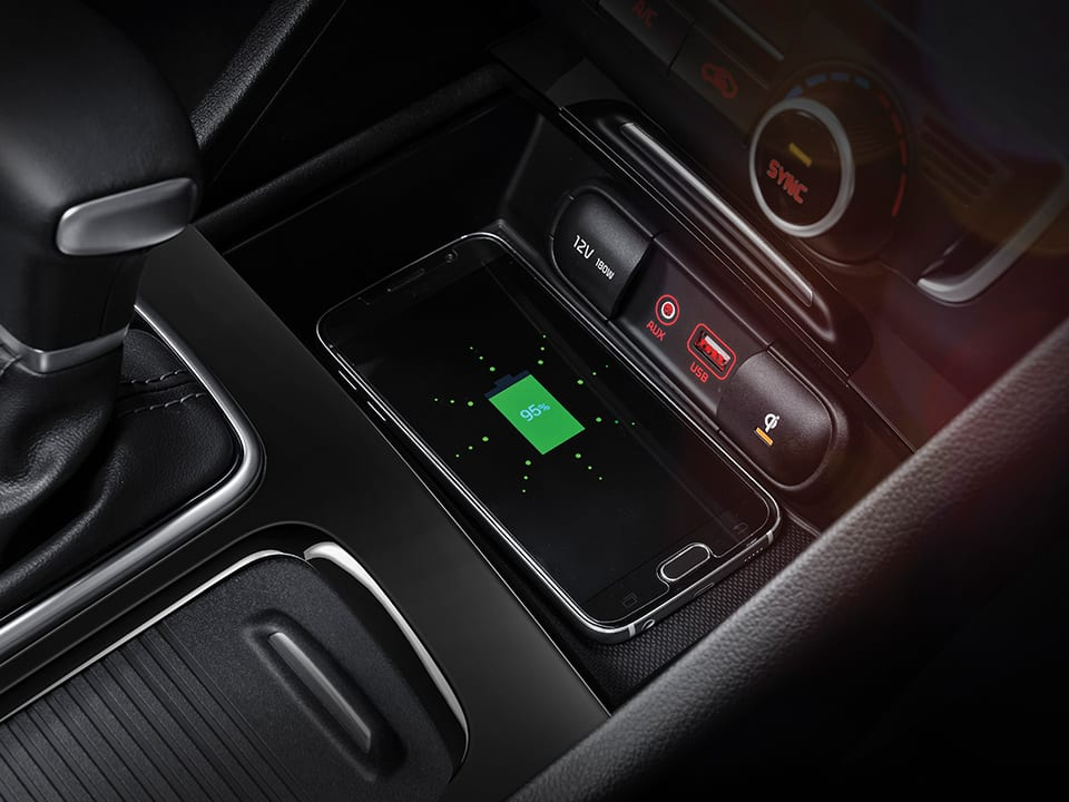 all-new Kia Optima wireless phone charger
