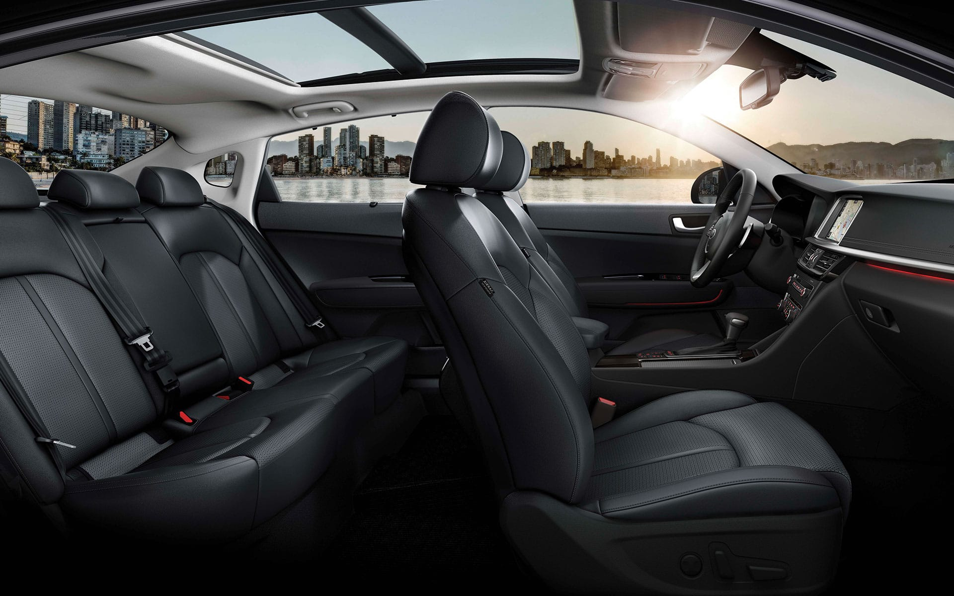 Kia Optima refined interior high-quality leather