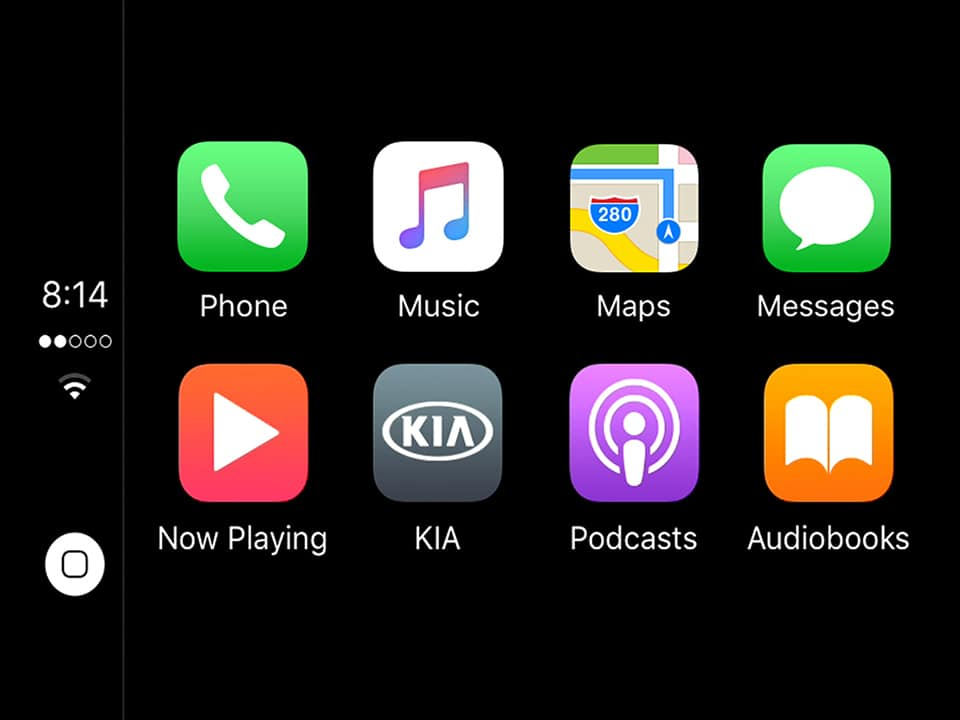 Kia Picanto 7'' navigation touchscreen compatible with Apple CarPlay™