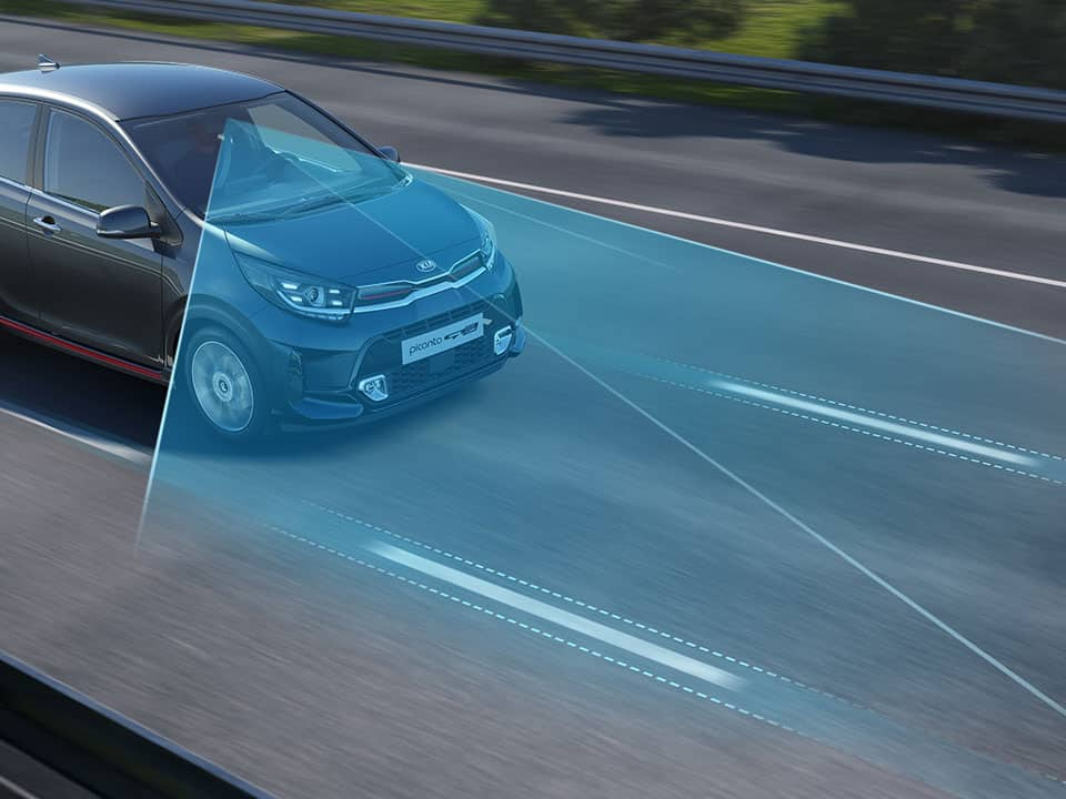 The new Kia Picanto Lane Following Assist (LFA) and Lane Keeping Assist (LKA)