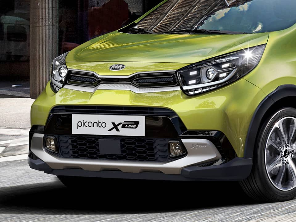 The new Kia Picanto X-Line striking exterior details