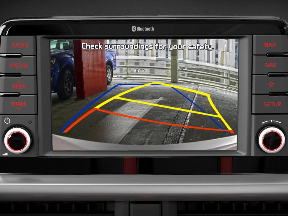 Kia Picanto rear view camera with dynamic guidelines