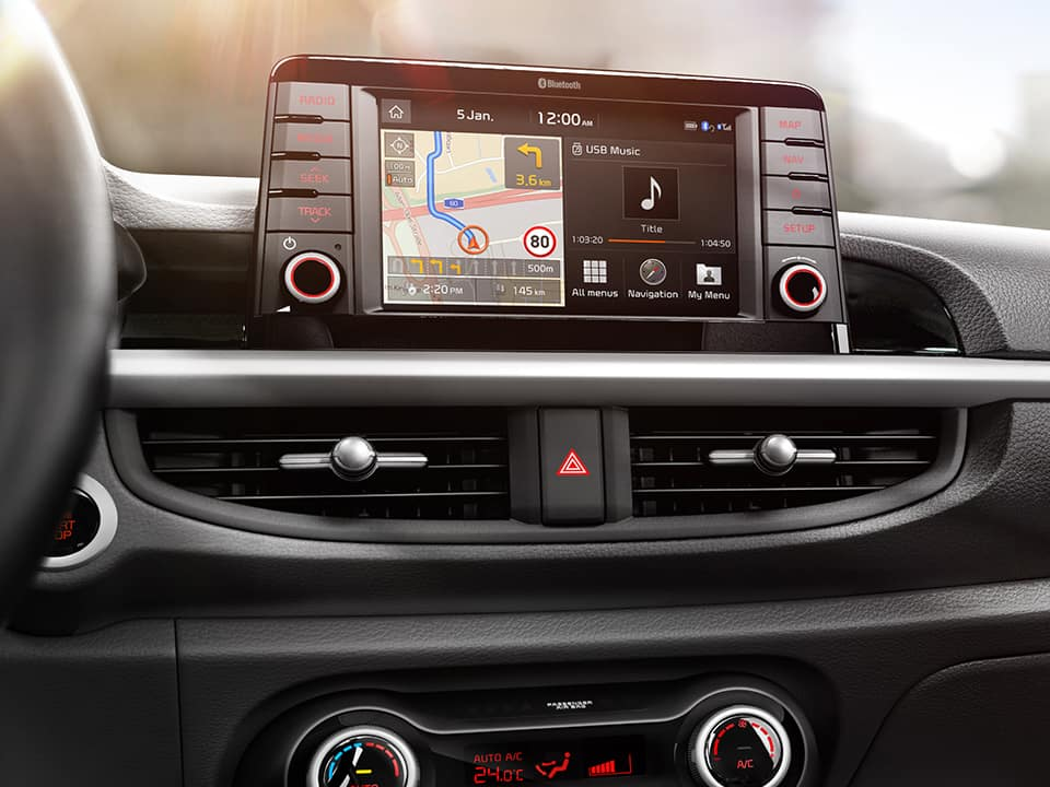 Kia Picanto floating 7'' navigation touchscreen