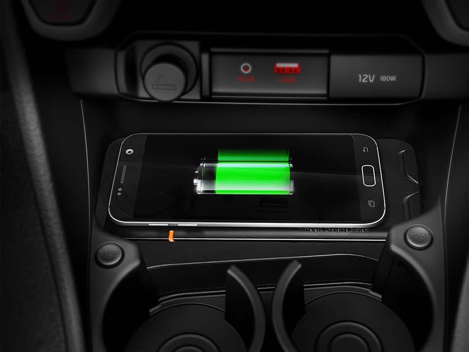 Kia Picanto wireless phone charger