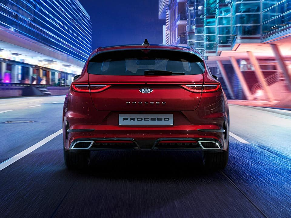 Kia ProCeed tailgate and rear lights