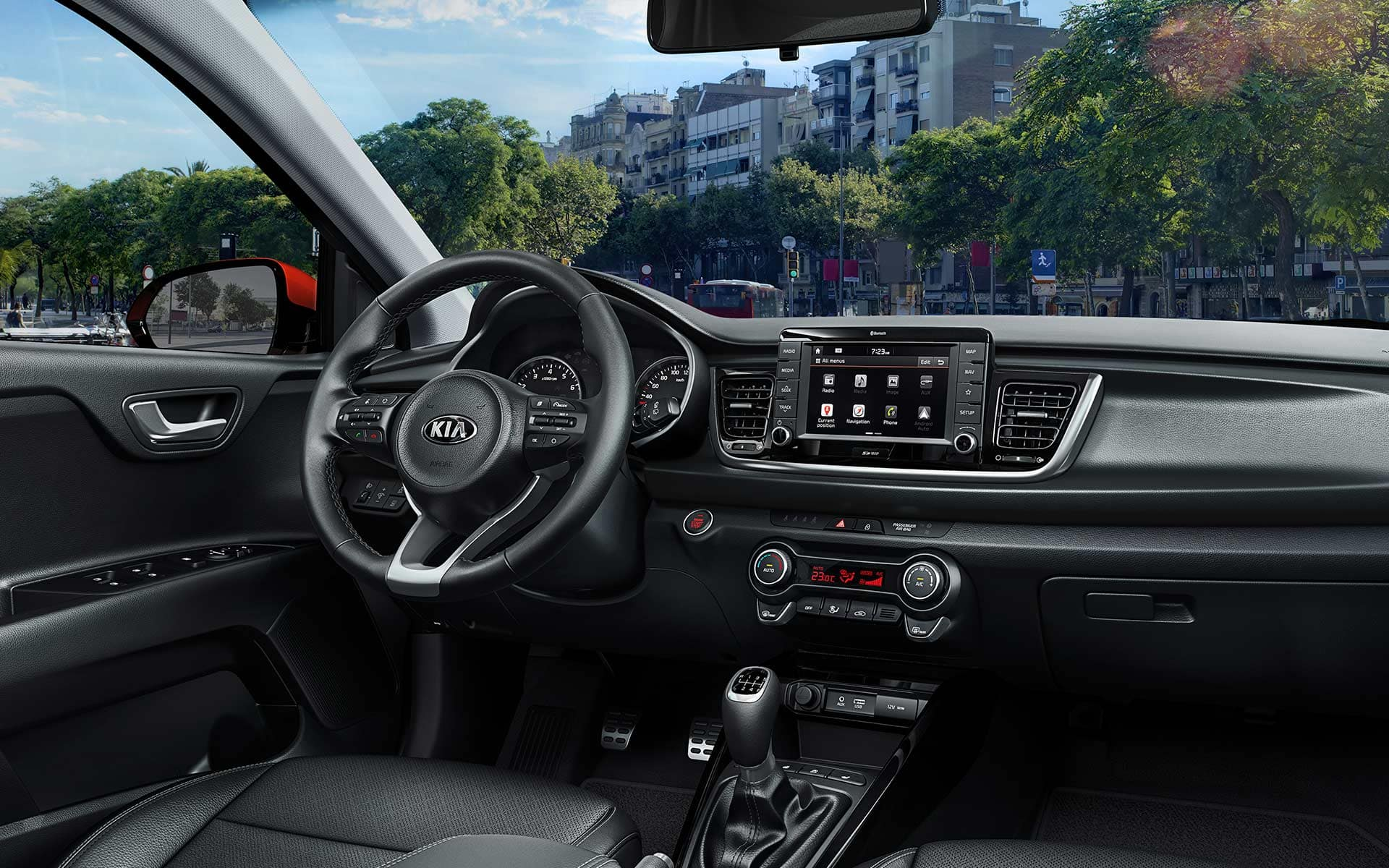 Kia Rio comfortable and smart interior