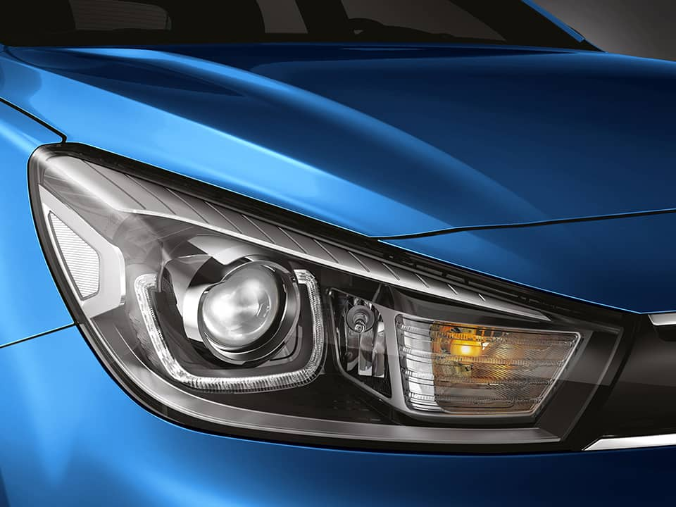 Kia Rio new LED headlamps