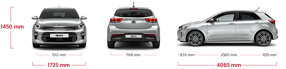 kia rio 5 door dimensions all