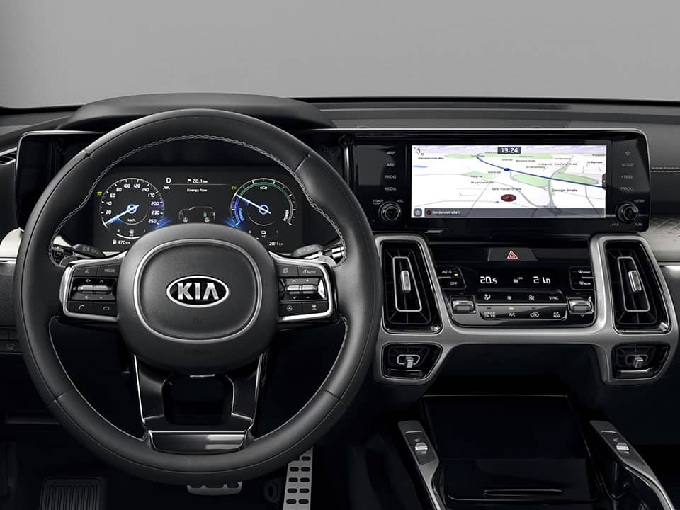 Kia Sorento Hybrid twin displays