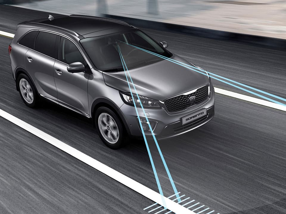 Kia Sorento met Lane Departure Warning System