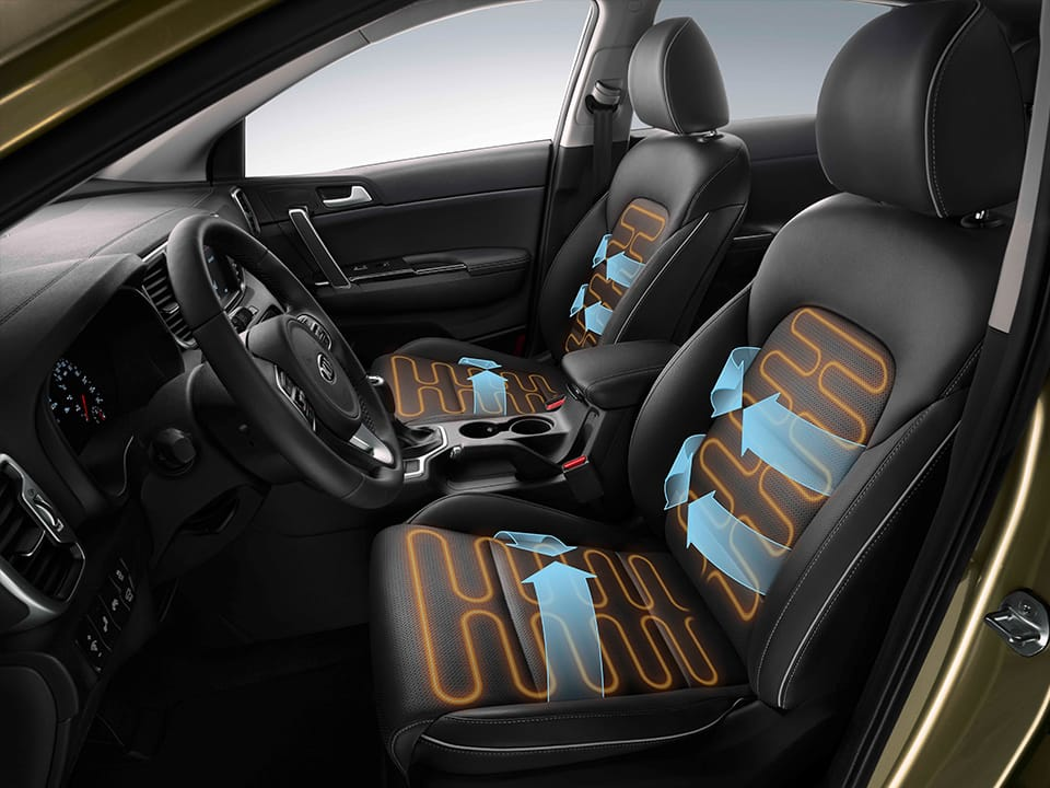 Kia Sportage heated and ventilated seats