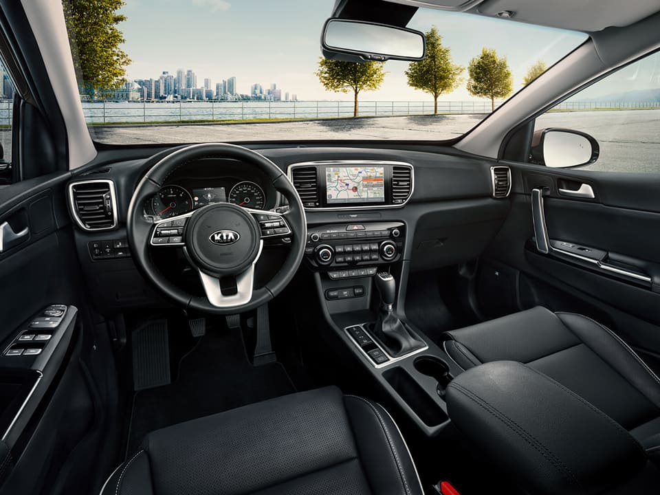 Kia Sportage refined interior with the new ergonomic cockpit
