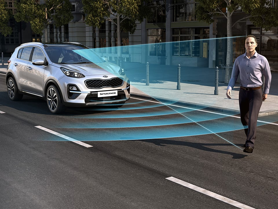 Kia Sportage forward collision-avoidance assist