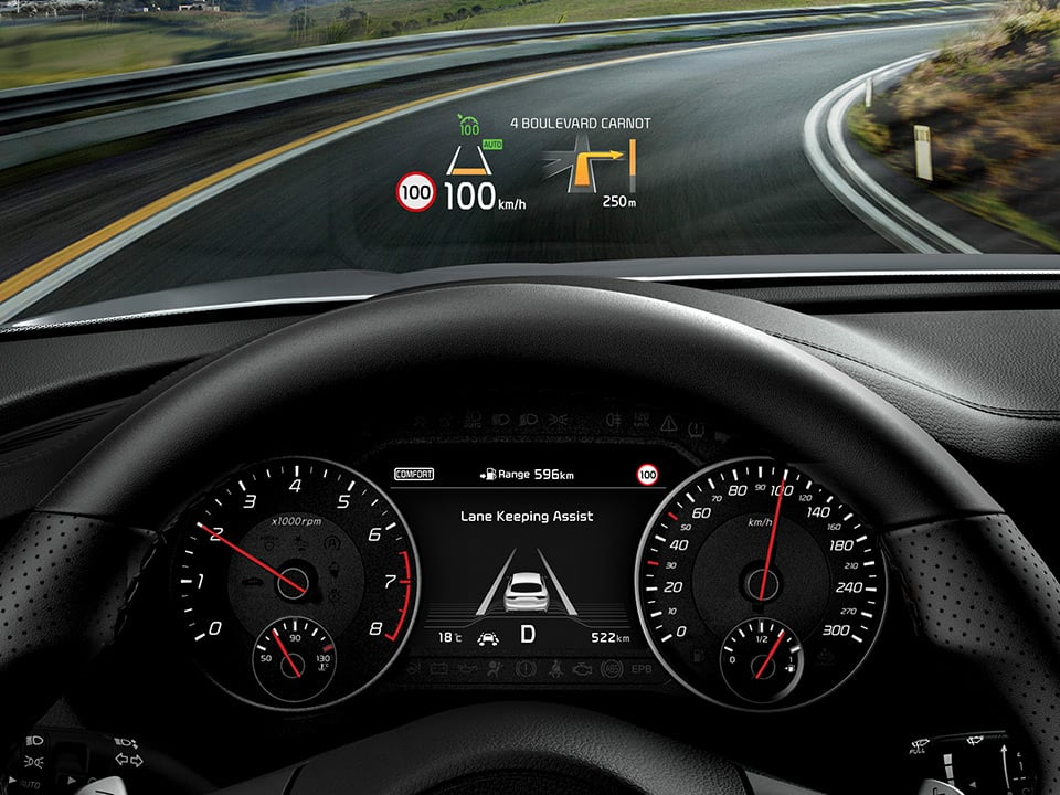 Kia Stinger – Head-updisplay