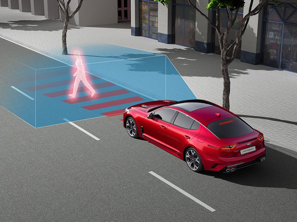 Kia Stinger forward collision avoidance assist