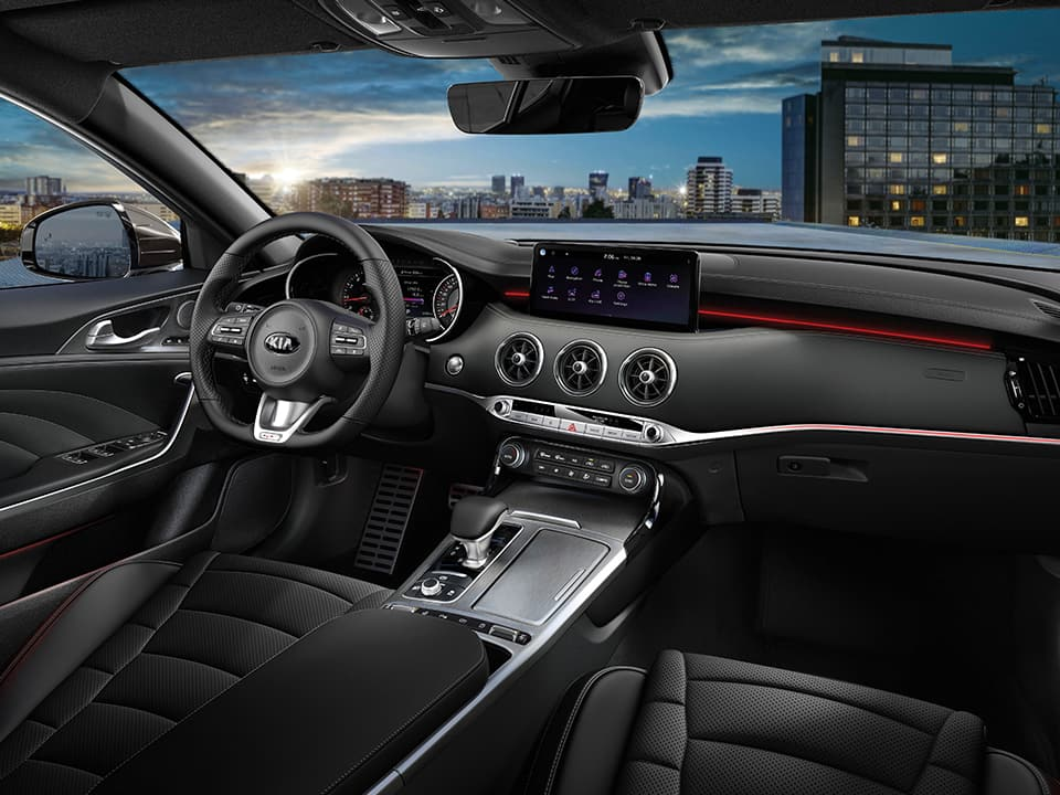 New Kia Stinger GT upscale interior