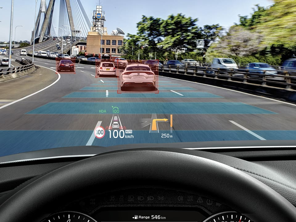 Kia Stinger - Head-up display
