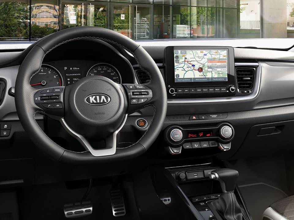 The new Kia Stonic driver-friendly cabin