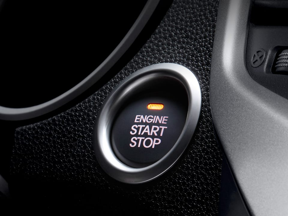 Kia Venga smart start/stop knop