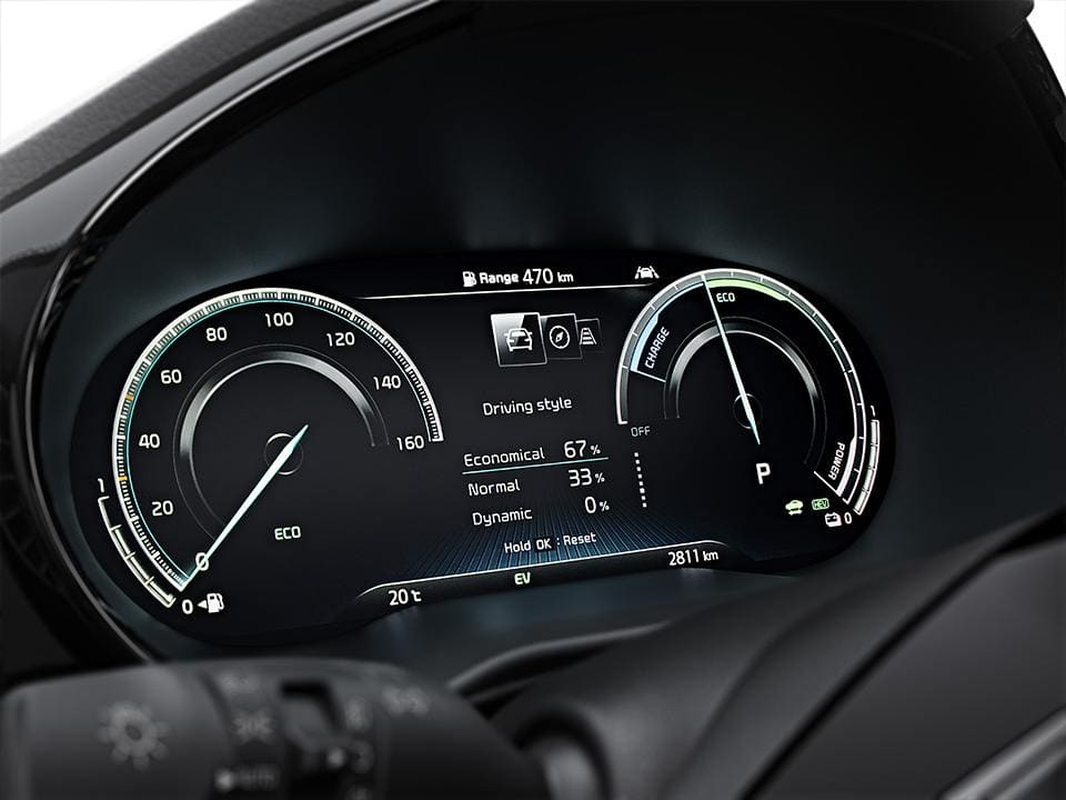 Kia XCeed with 12,3'' full digital cluster