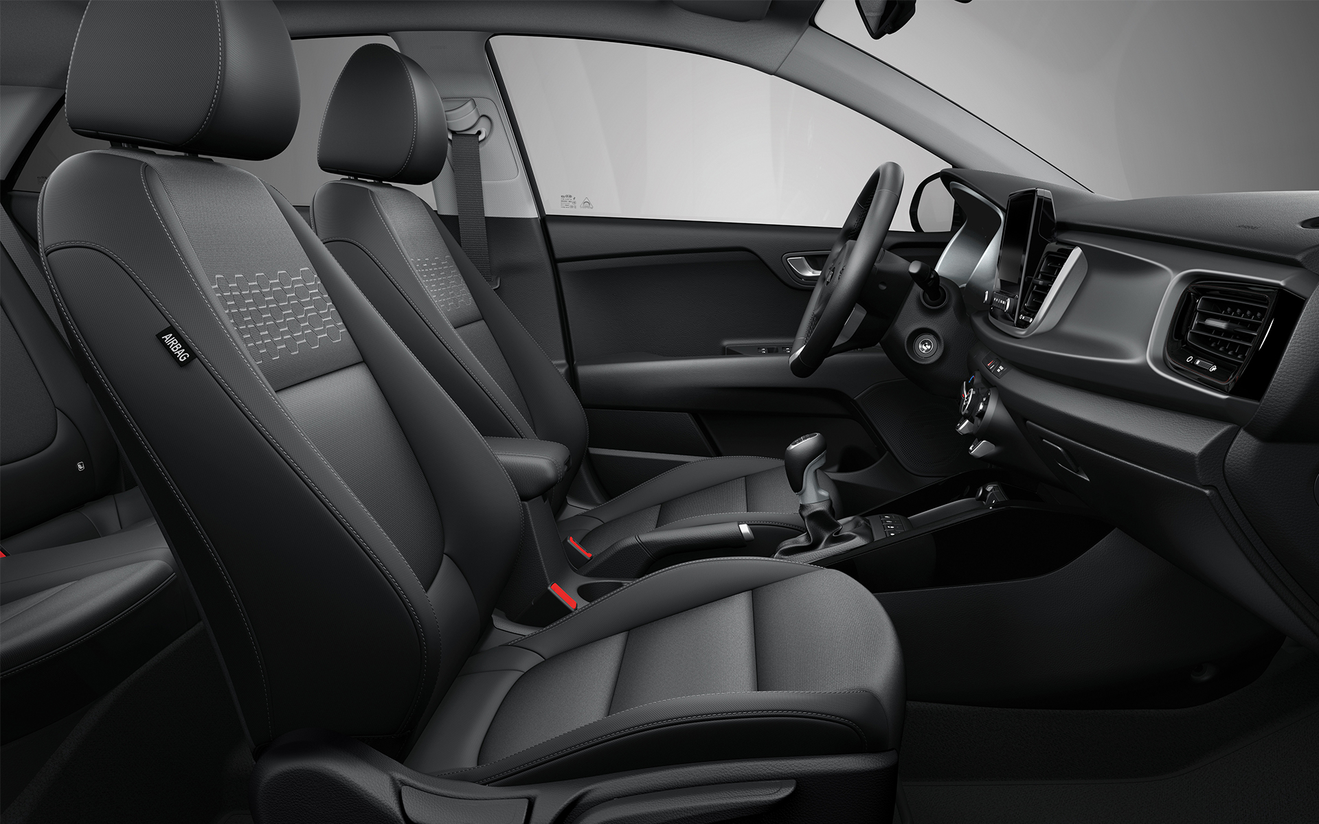 The new Kia Rio comfortable and smart interior