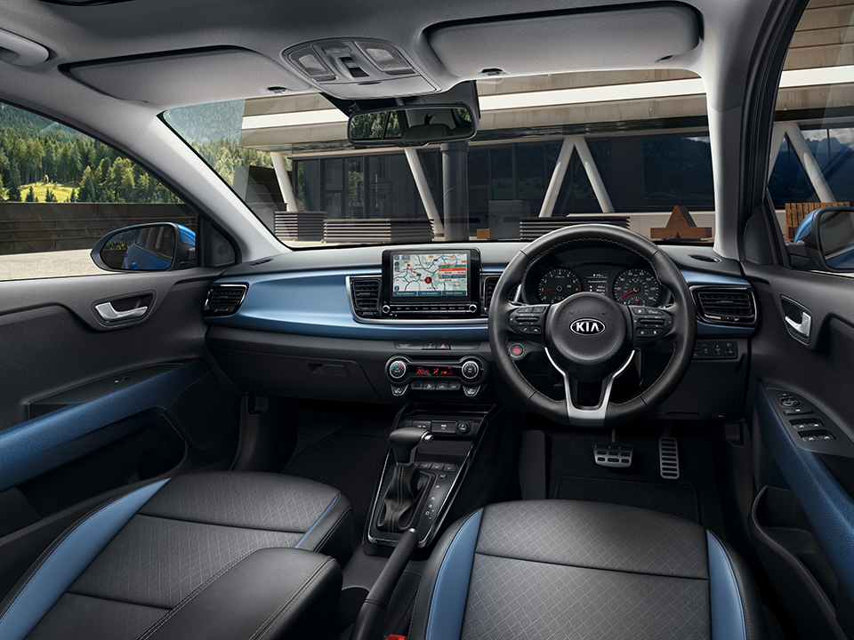The new Kia Rio modern interior
