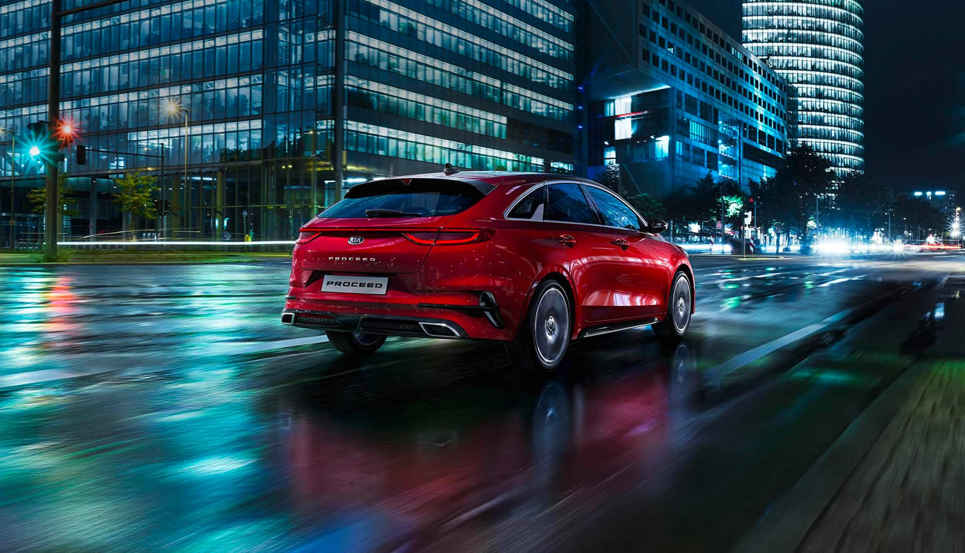 Kia ProCeed driving
