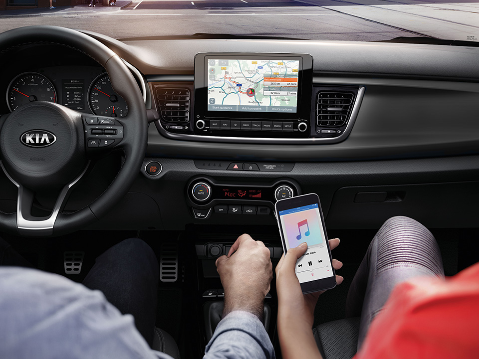 Kia Rio - Touchscreen navigatiesysteem met UVO Connect