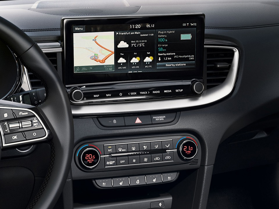 "kia xceed plug-in hybrid - 10,25"" touchscreen navigatie"