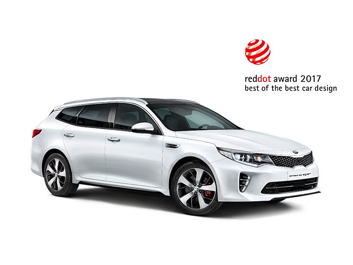 Kia Optima Sportswagon GT med Red Dot Award logga