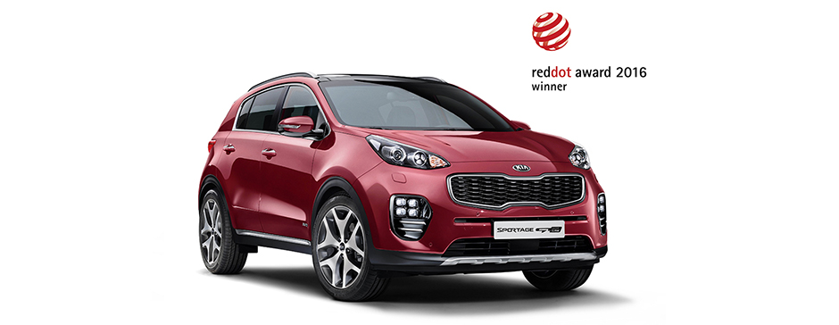 Bil Kia Sportage red dot award