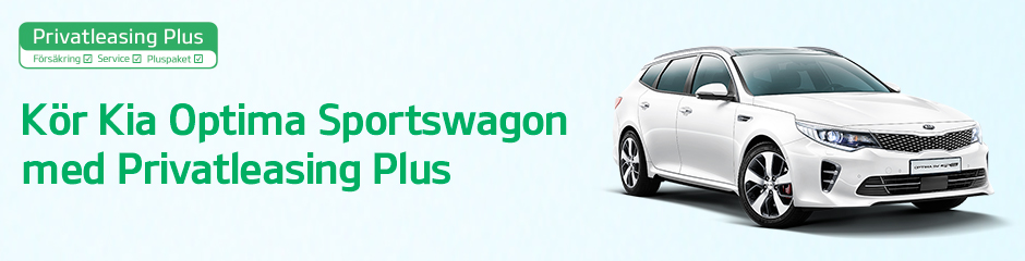 Kör Kia Optima Sportswagon med Privatleasing Plus