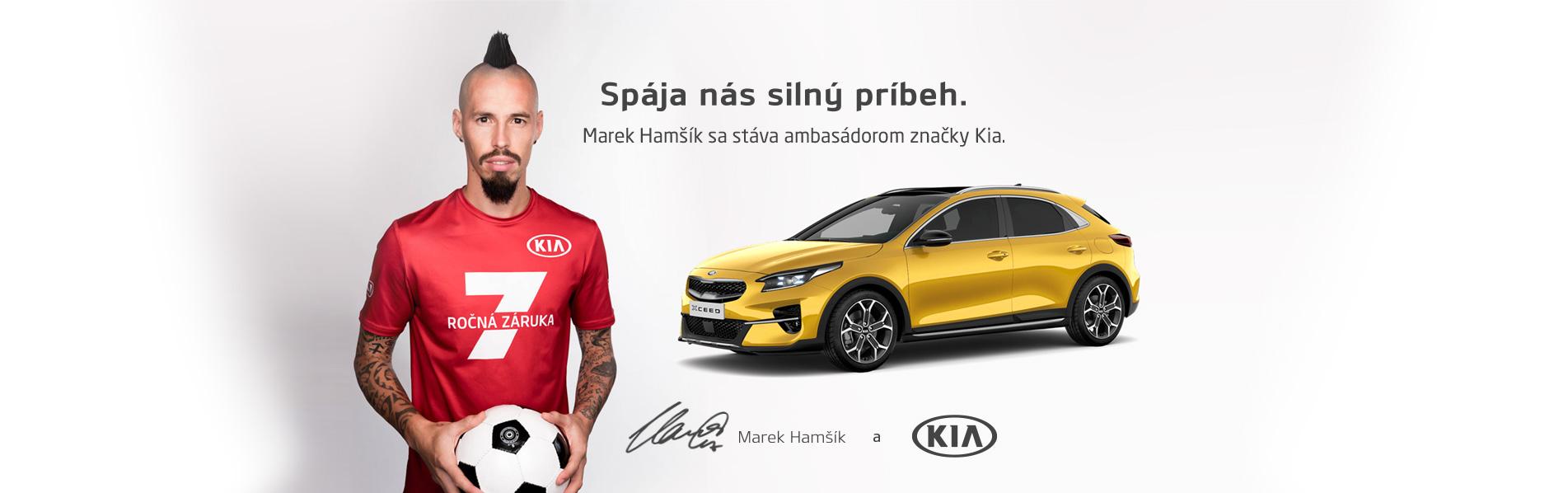 Marek Hamšík sa stáva ambasádorom značky Kia
