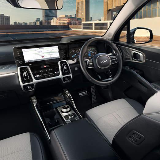 Touchscreen on car dashboard