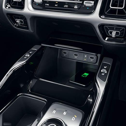 Phone charging in car