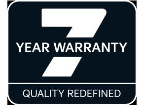 7-year new car warranty logo