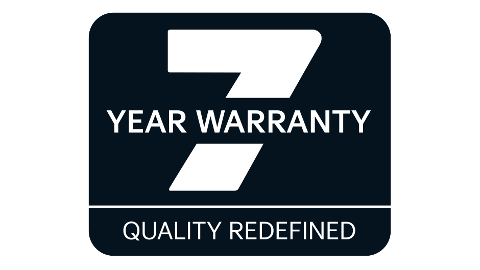 seven year warranty or 100,000 miles of stress free driving