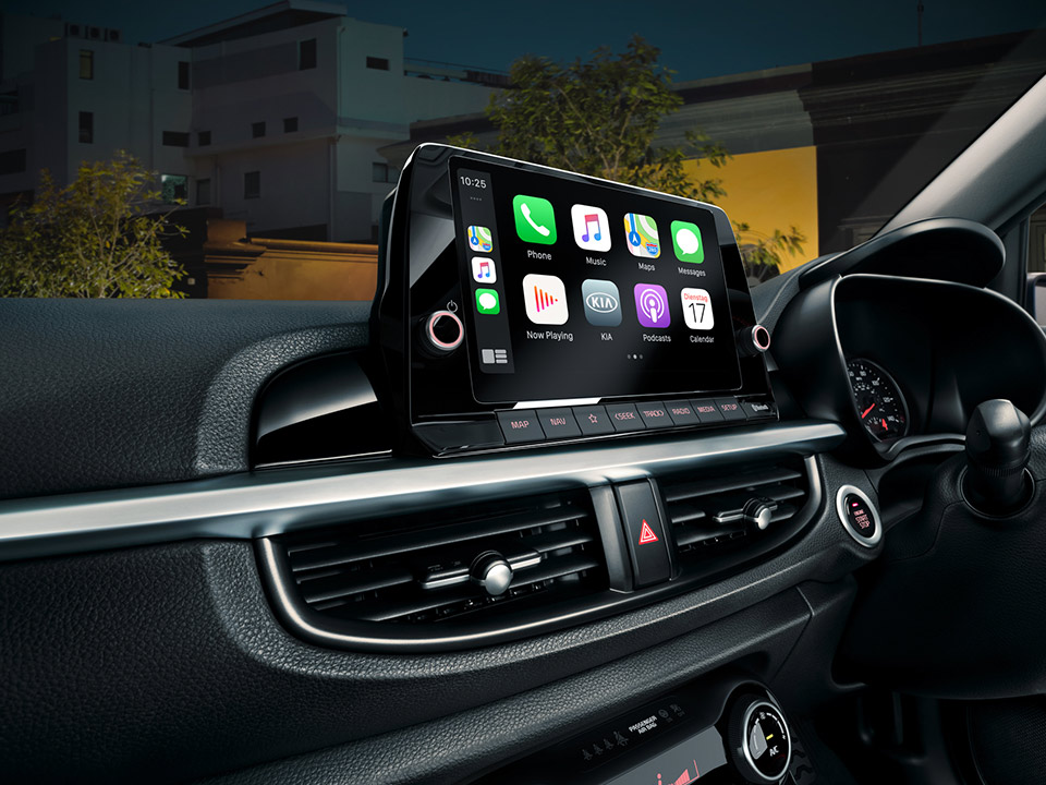 The new Kia Picanto Android Auto and Apple CarPlay
