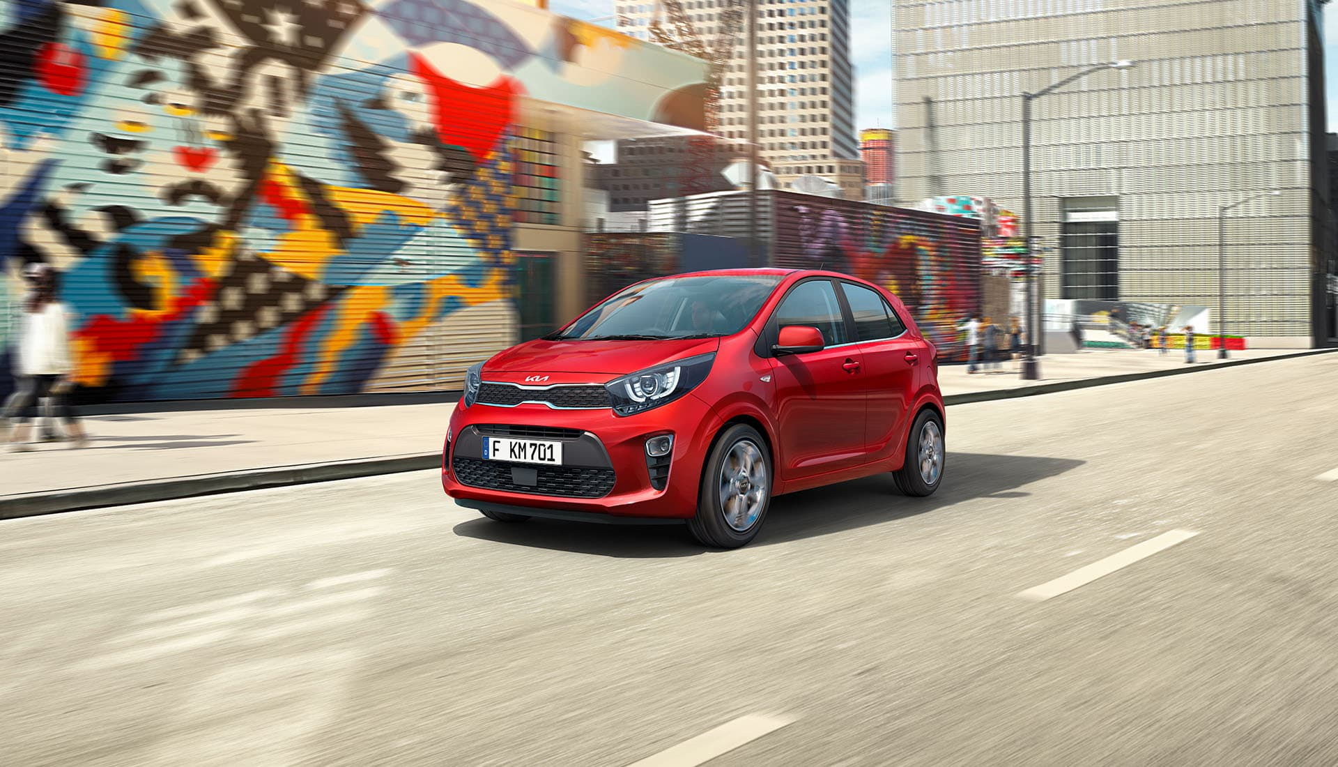 The new Kia Picanto city driving