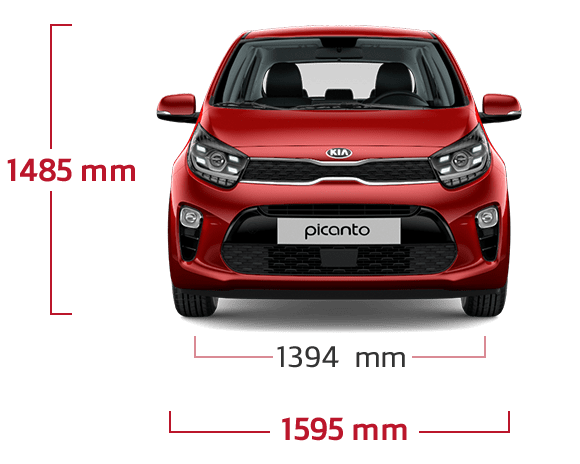 Front view specifications
