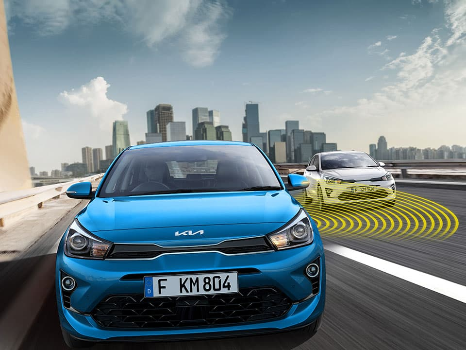 New Kia Rio Blind-Spot Collision Warning