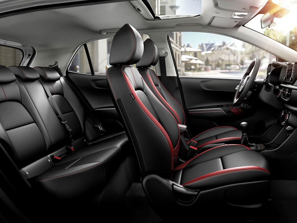 Interior of LHD Kia Picanto